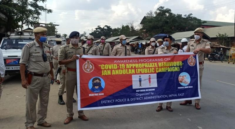 Manipur police covid awareness