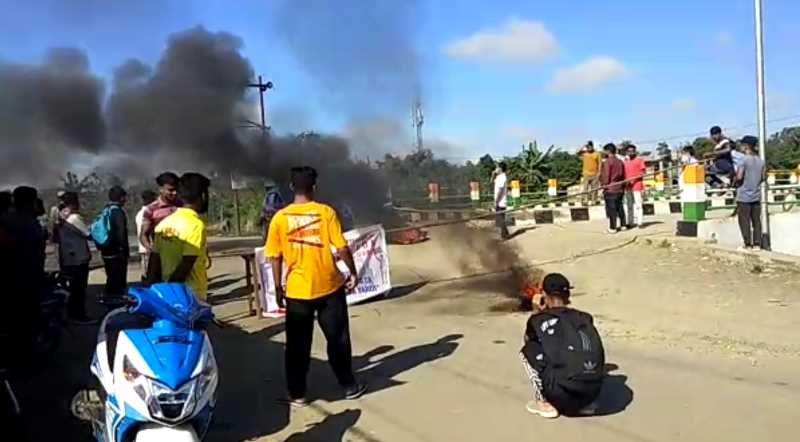 Manipur Muslim students protest in Imphal turned violent (Photo IFP)