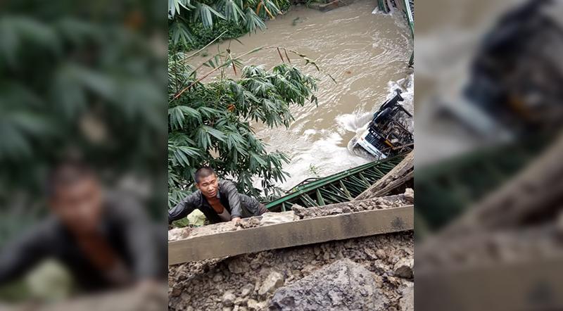 Irang bridge collapse photo IFP