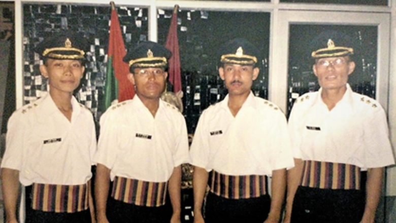 The four Doctors from RIMS, Manipur at AMC Centre and School, Lucknow