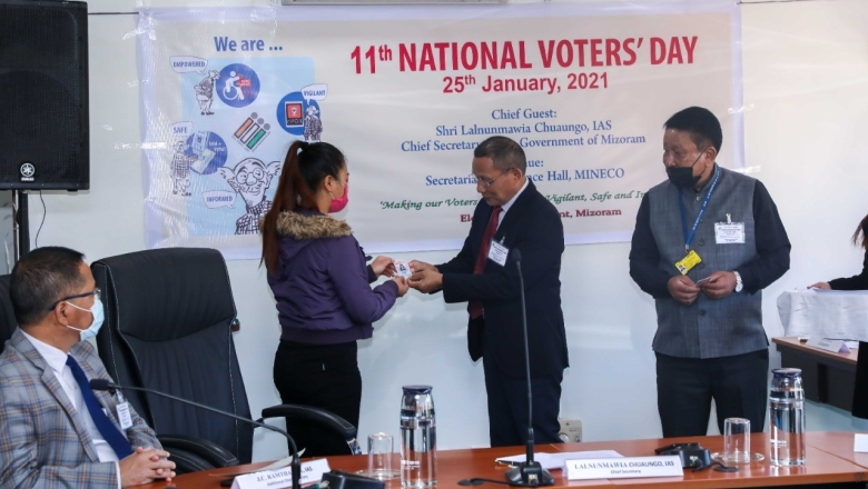 National Voters' Day in Mizoram