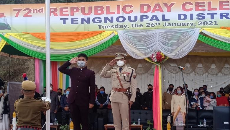 Republic day tengnoupal