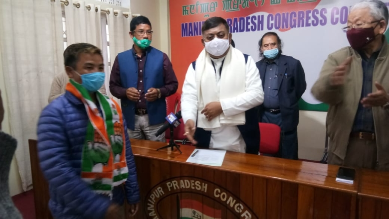 Six BJP leaders, workers of Nungba AC, Noney join Congress