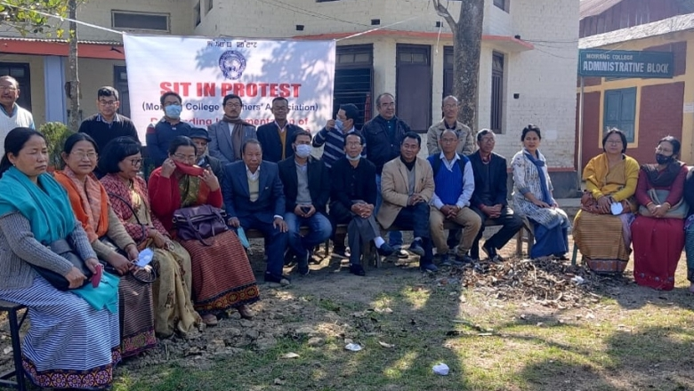 manipur college teachers protest
