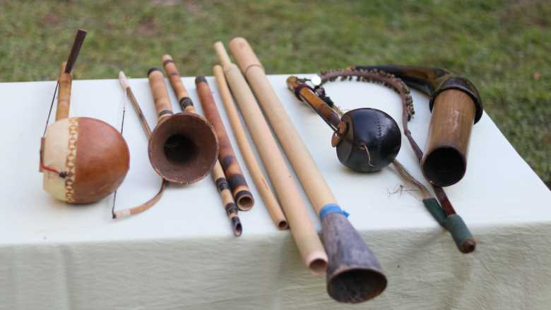 Traditional musical instruments of various communities in Manipur (PHOTO: IFP Image)