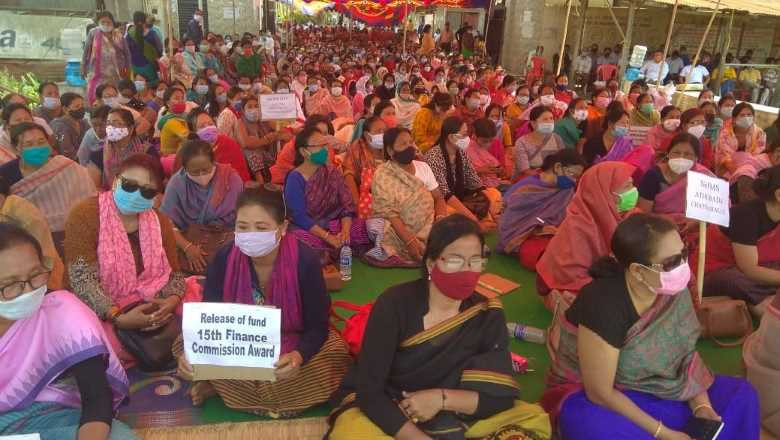 Manipur Panchayat Parishad protest